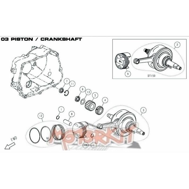Vilebrequin / embiellage Daytona Anima 150cc au prix de