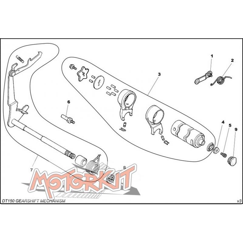 Shaft oil seal for gearbox Daytona DT150E price : 2,99