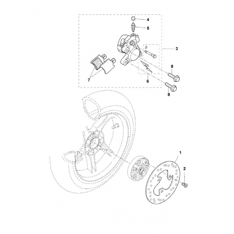 Plan of Rear brake system for Nitro/Aerox . Find easily