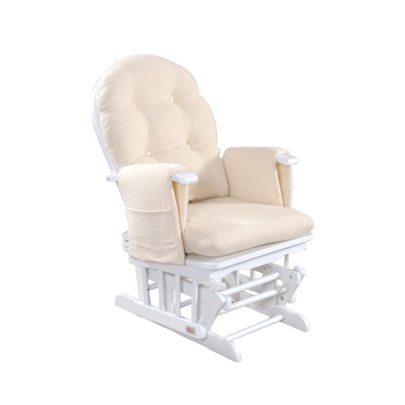 Glider Breastfeeding Rocking Chair with Ottoman