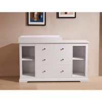 White Chest of Drawers and Baby Change Table Top | Buy ...