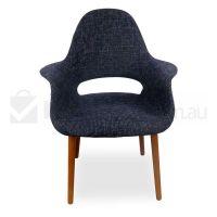 2x Organic Black Fabric Dining Chairs Eames Replica | Buy ...