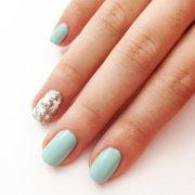simple snowflake nail art popsugar