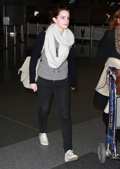 Emma Watson Arrives In New York City Pictures POPSUGAR