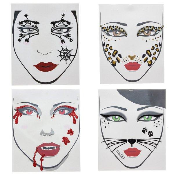 temporary face tattoos halloween