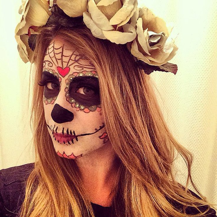 Lo Bosworth showed off her impressive Dia de los Muertes makeup look.<br /><br /> Source: Instagram user lobosworth<br /><br />