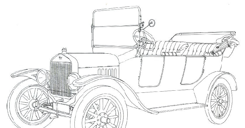Ford Model T Coloring Page Of Car Pictures