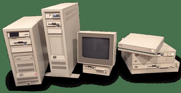PC-er fra 90-tallet.