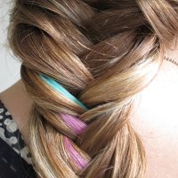 How to Do a Colorful Fishtail Braid: Hair Tutorial With ...