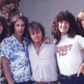 The band members of reo speedwagon got together for a photo op in 1979