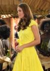 Kate Middleton Wore Bright Yellow Dress In Solomon