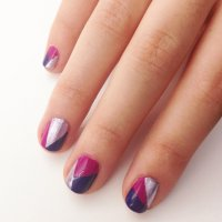 DIY Geometric Nail Art Design | POPSUGAR Beauty