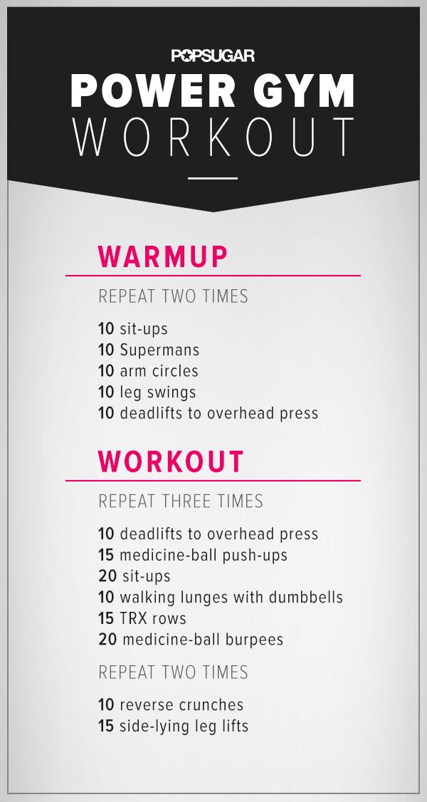 Printable Noequipment Workout Popsugar Fitness
