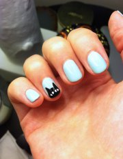 black cat nail art popsugar beauty