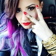 celebrities with rainbow coloured