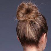 thick bun shoulder-length hair
