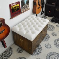 DIY Tufted Storage Ottoman | POPSUGAR Home