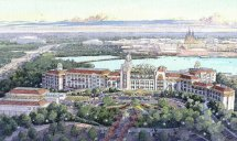 Overview Of Shanghai Disneyland Hotel Rendering