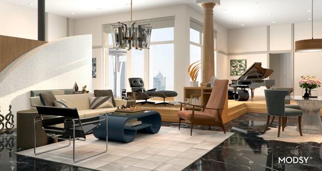 Frasier-Inspired Modern-Style Living Room | Try These Free ...