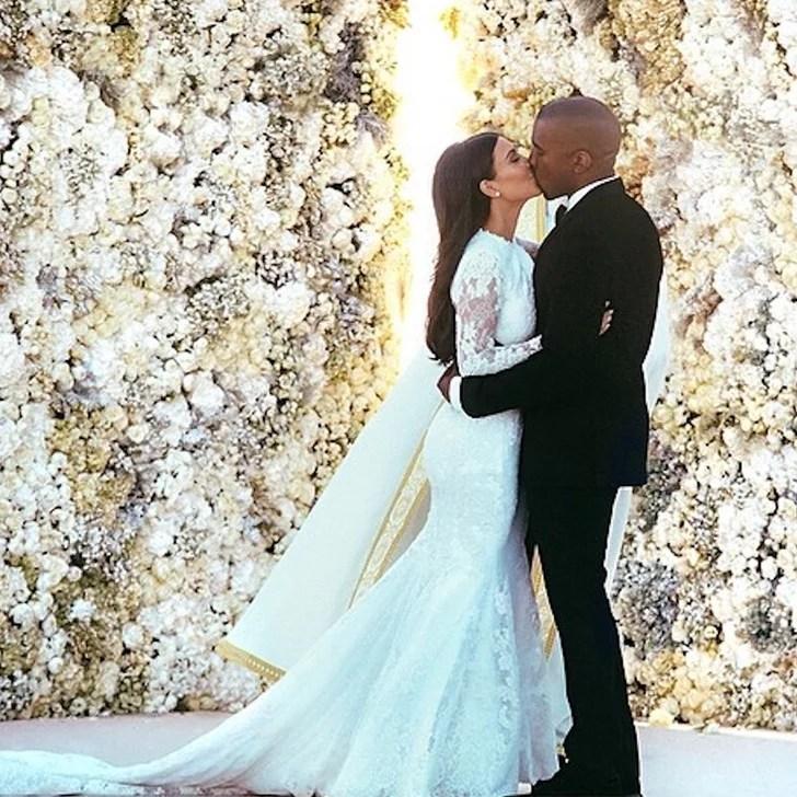 Kim Kardashian Wedding Dress Popsugar Fashion