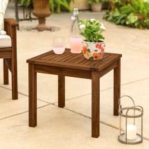 Classic Dark Brown Acacia Wood Patio Side Table Pier 1