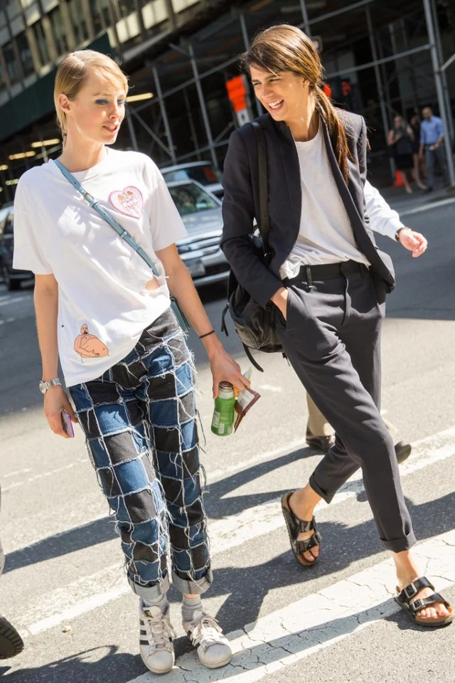 A Quirky T-Shirt You Can Wear Right Out of Bed, Cropped Pants, and Flats