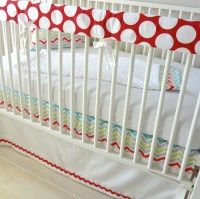 Merry Go Round Bumperless Crib Bedding Set | Bumperless ...