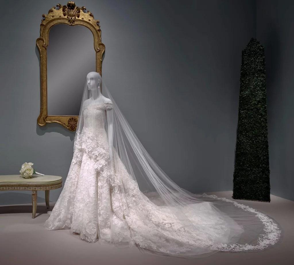 Amal Clooneys Wedding Dress on Display  POPSUGAR Fashion