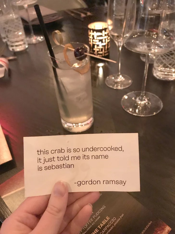 Order the Notes From Gordon cocktail to get a classic insult from the chef  Gordon Ramsay