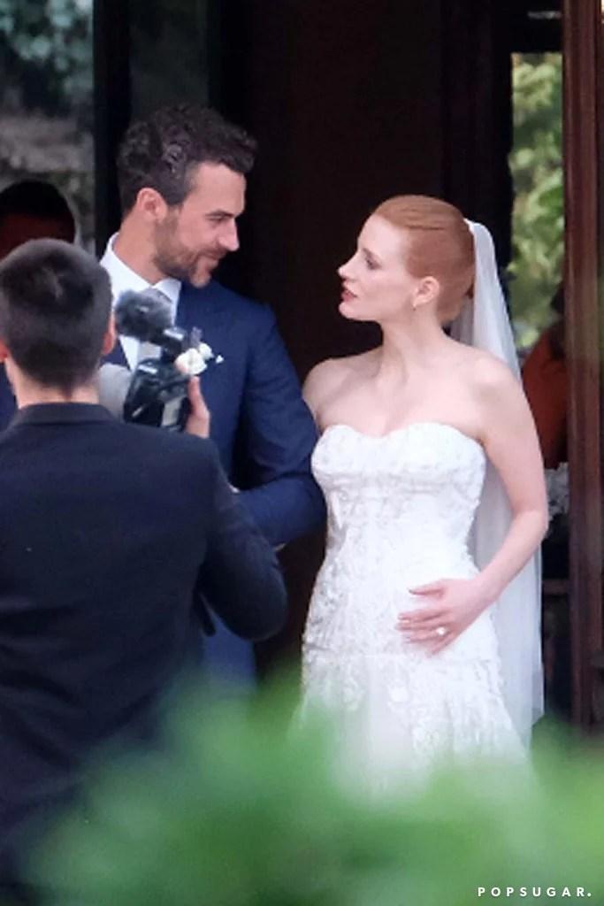 Jessica Chastain Wedding Pictures  POPSUGAR Celebrity