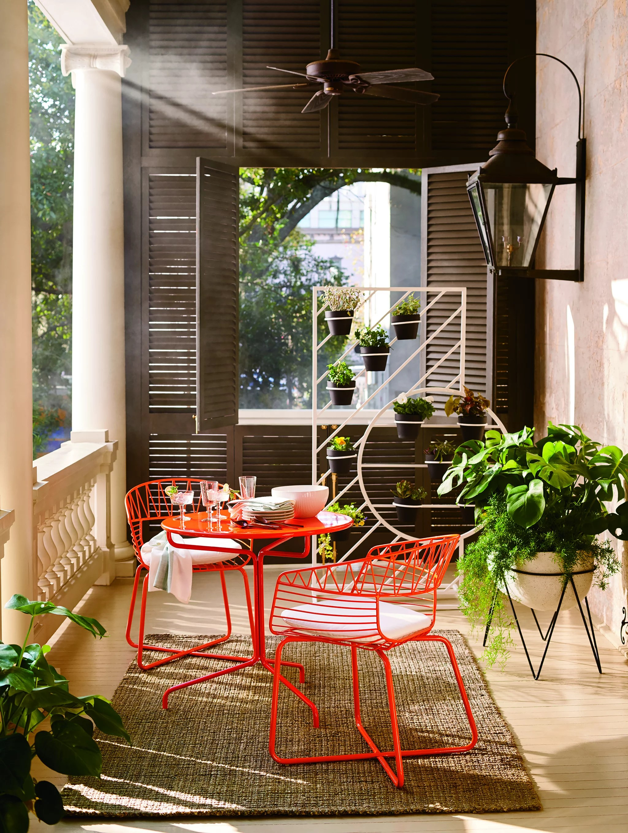 Soleil Metal Outdoor Bistro Dining Set With Table And Two