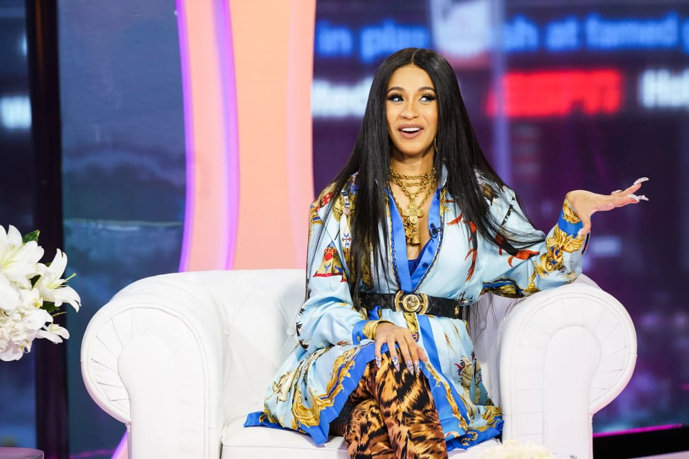 NEW YORK, NY - APRIL 10:  Cardi B visits MTV TRL at MTV Studios on April 10, 2018 in New York City.  (Photo by MTV/TRL/Getty Images)