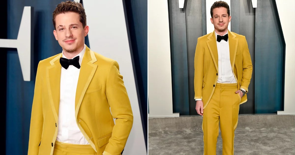 Charlie Puth Swung By the Oscars Afterparty in a Fendi Suit Fit For the Moonrise Kingdom