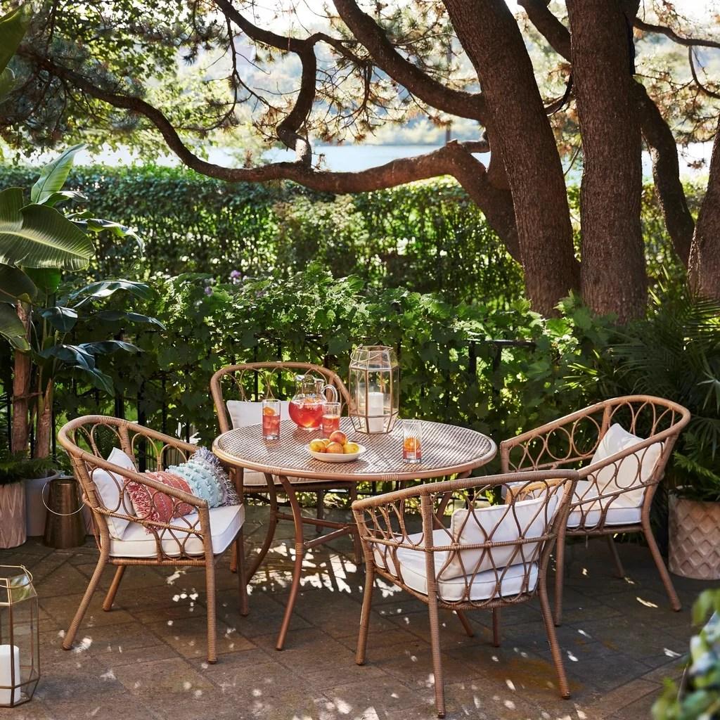 britanna 5 piece wicker patio dining