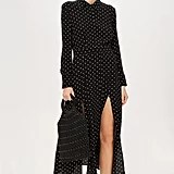 Spot Pleat Shirt Dress