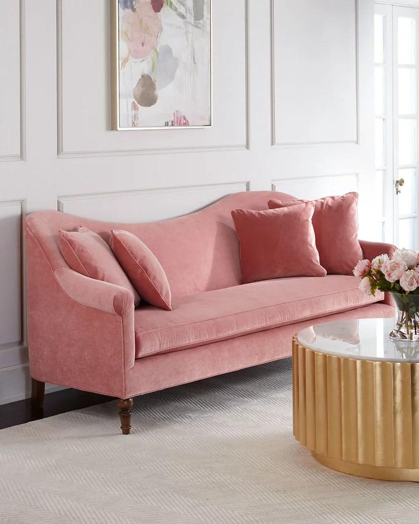 Cerise Velvet Sofa  Best Pink Couches  POPSUGAR Home Photo 6
