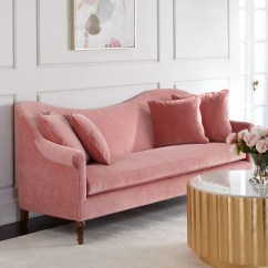 Modern Cabriole Sofa Hide A Bed From Simmons Cerise Velvet | Best Pink Couches Popsugar Home Photo 5