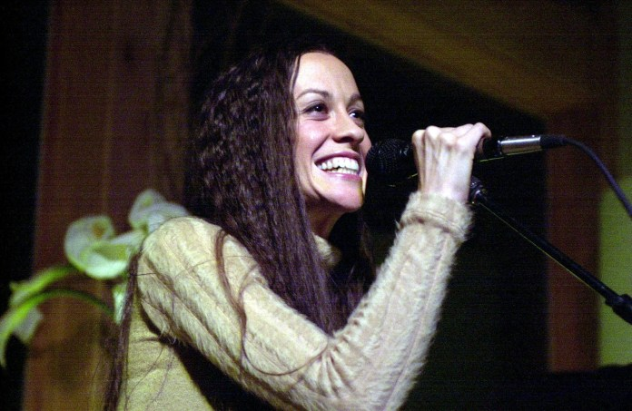 Alanis Morissette performing at the Chrysler Million Dollar Film Festival launch party (Photo by Theo Wargo/WireImage)