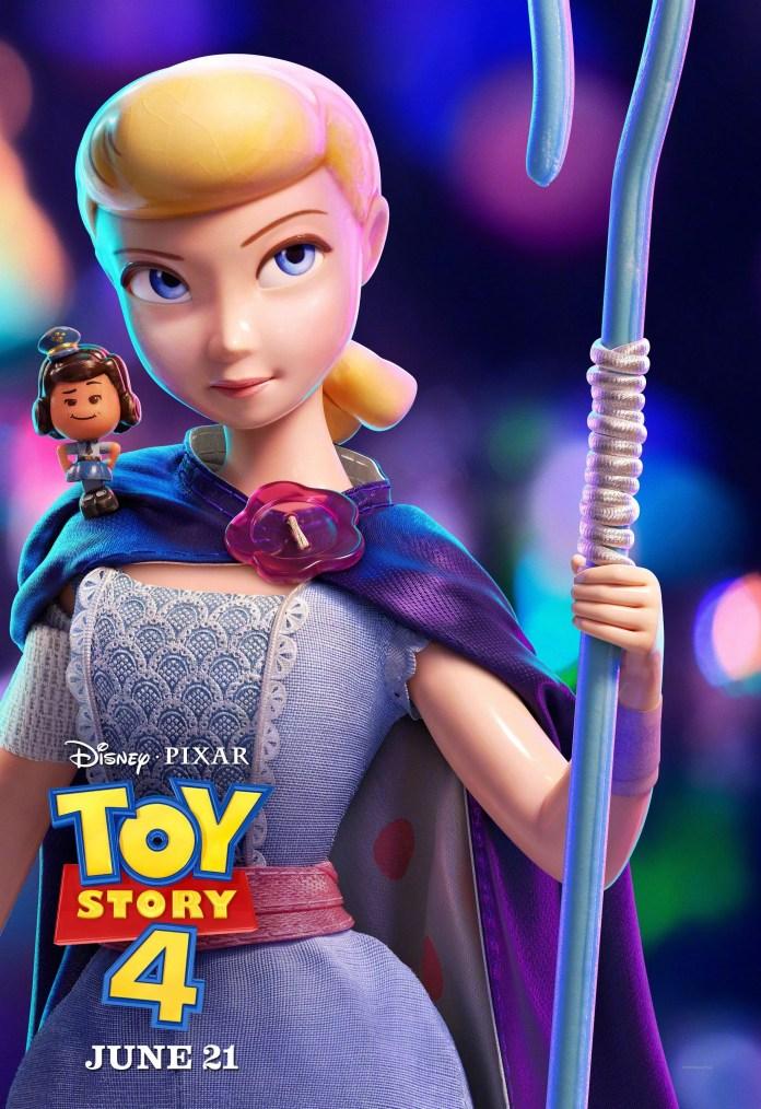 TOY STORY 4, US-Charakterplakat, von links: Giggle McDimples (Stimme: Ally Maki), Bo Peep (Stimme: Annie Potts), 2019. Walt Disney Studios Motion / mit freundlicher Genehmigung der Everett Collection