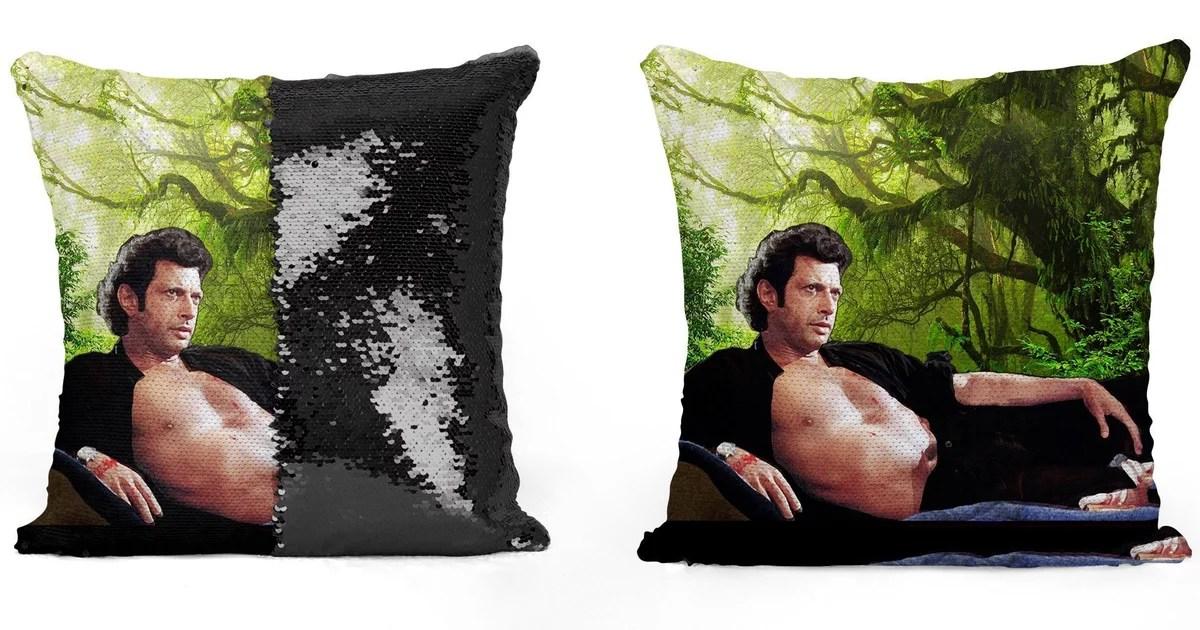 jeff goldblum sequin pillows popsugar