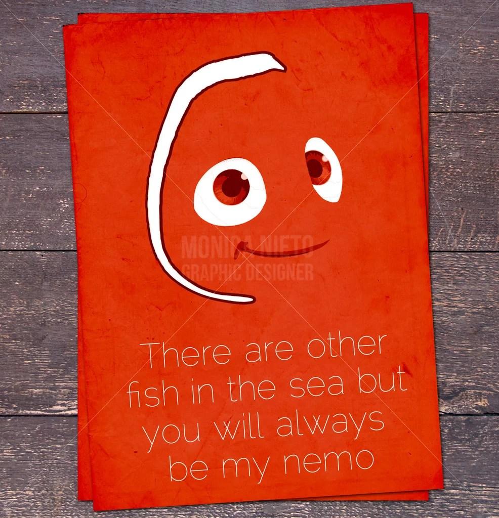 Finding Nemo Valentines Disney Valentines Day Card