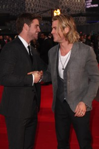 The handsome brothers shared a laugh on the red carpet ...