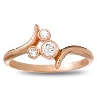 14-karat rose gold Diamond Mickey Mouse Icon Bypass Ring ...