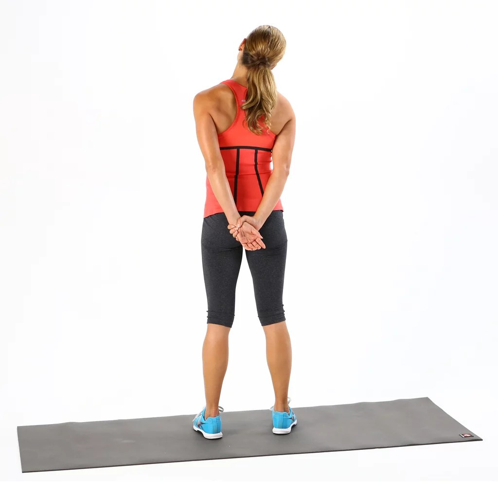 Behind the Back Neck Stretch Desk Stretches to Relieve