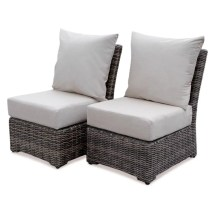 Cherry Hill -weather Wicker Patio Armless Deep Seating