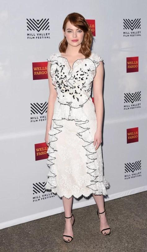 Emma Stone Wearing Rodarte