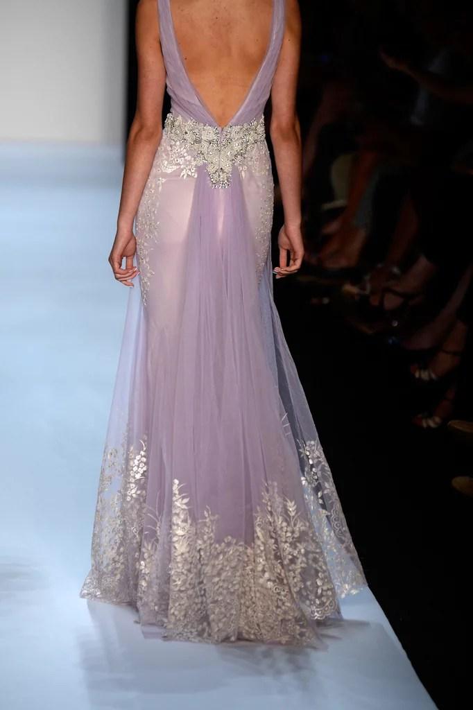 Rihannas Purple Badgley Mischka Bridesmaid Dress