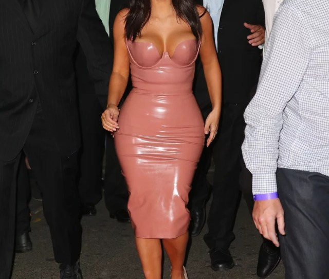 Yes North West Your Mom Is Wearing A Skintight Latex Dress