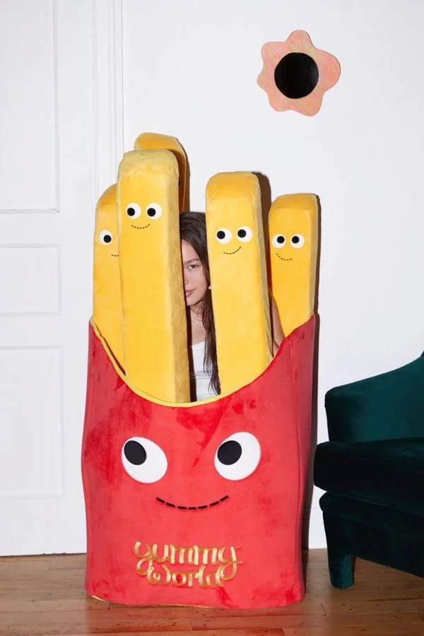 giant stuffed french fries pillow