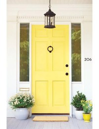 Canary-Yellow Front Doors | Popular Paint Colors ...